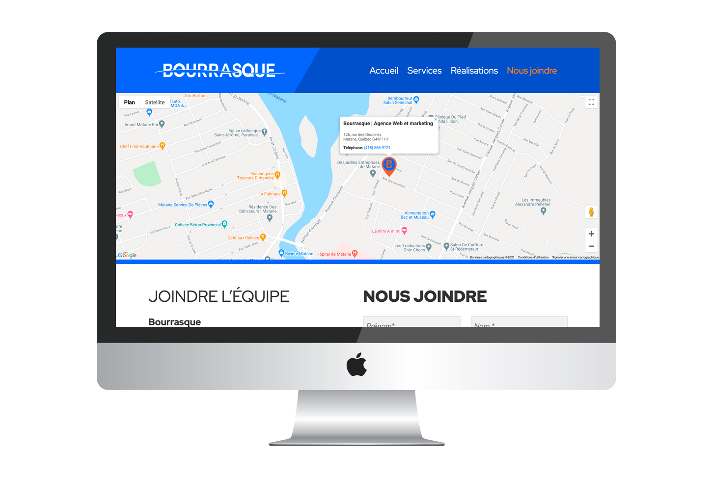 Bourrasque - Site Web