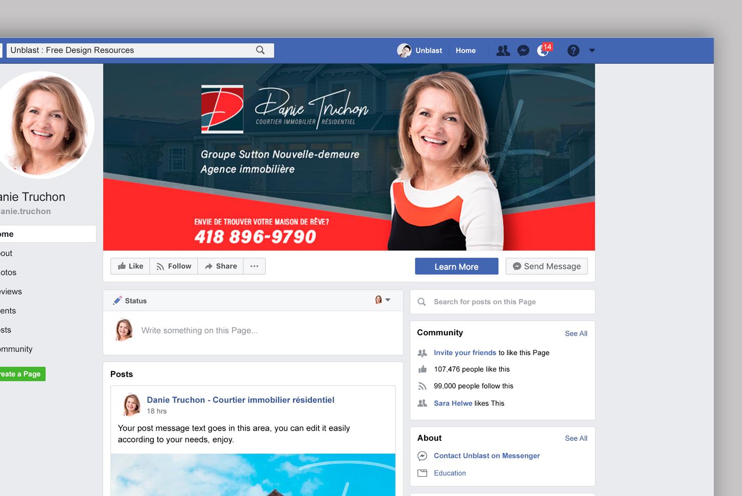 Danie Truchon - Courtier immobilier résidentiel - Visuels Facebook