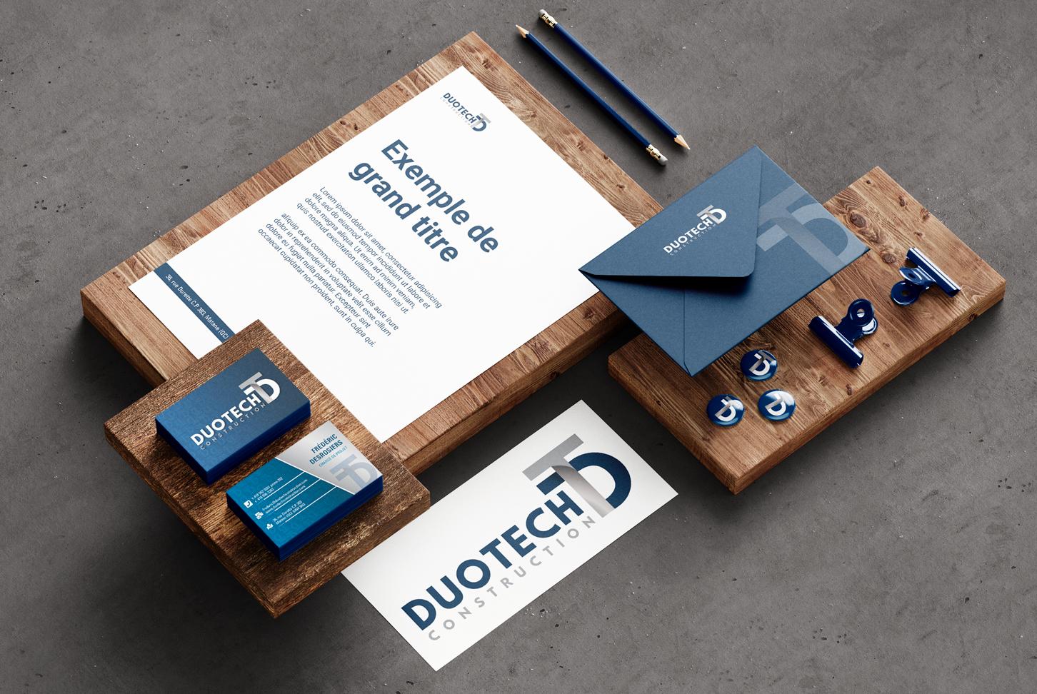 Duotech Construction - Identité visuelle