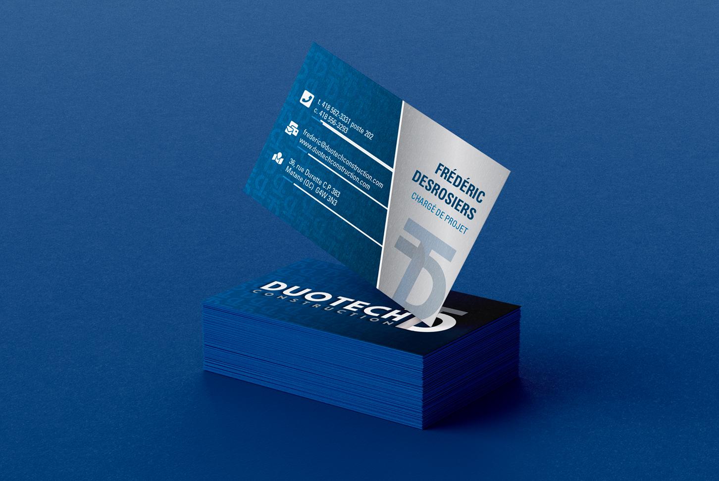 Duotech Construction - Cartes d'affaires