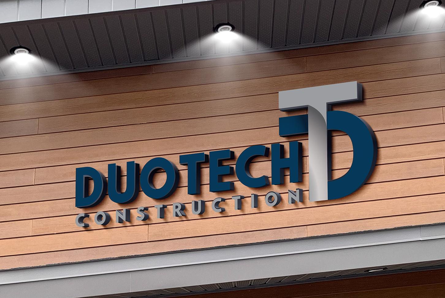 Duotech Construction - Graphisme d'une enseigne