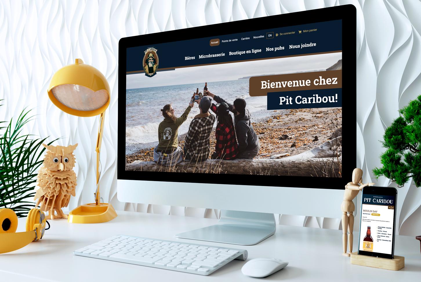 Pit Caribou - Site Web - Accueil