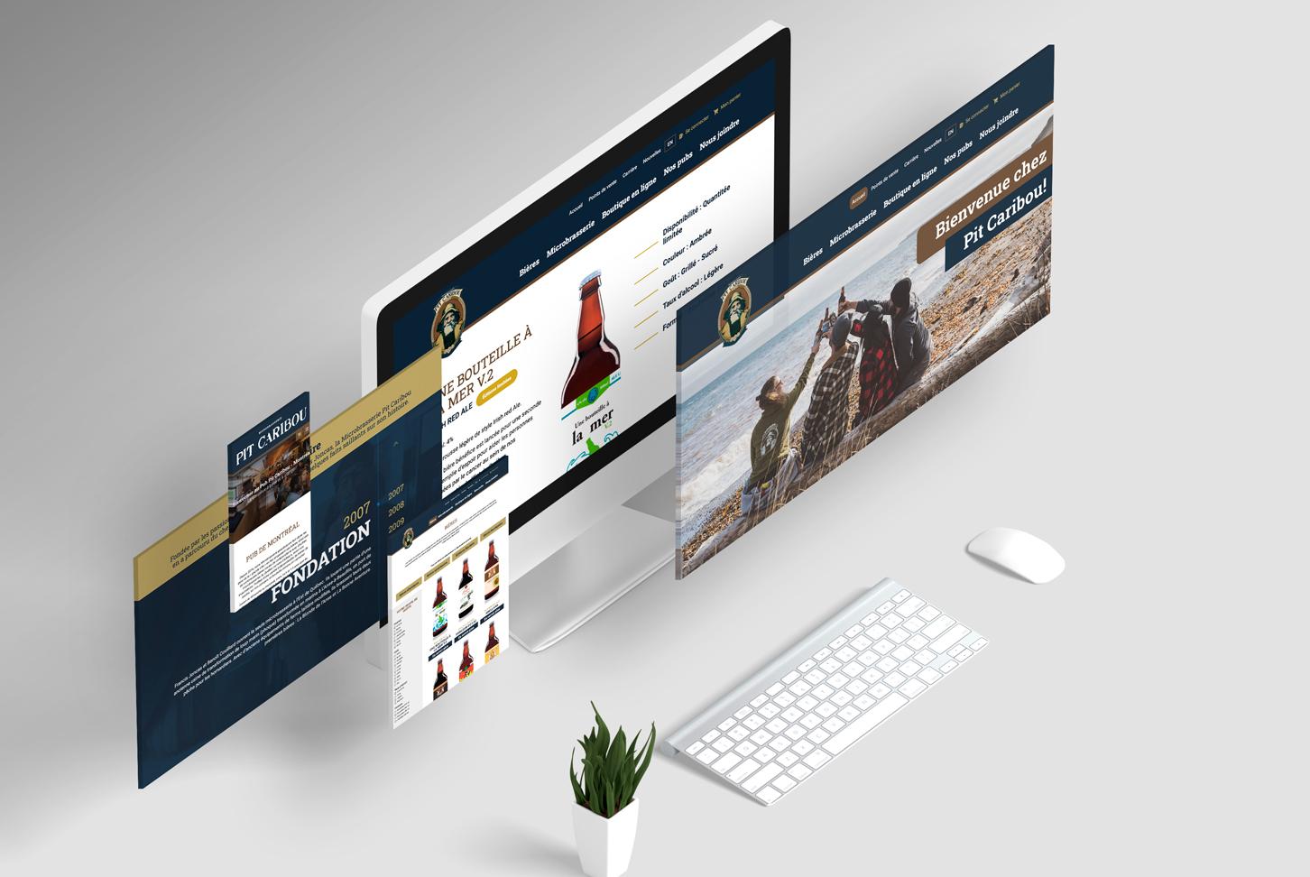 Pit Caribou - Site Web