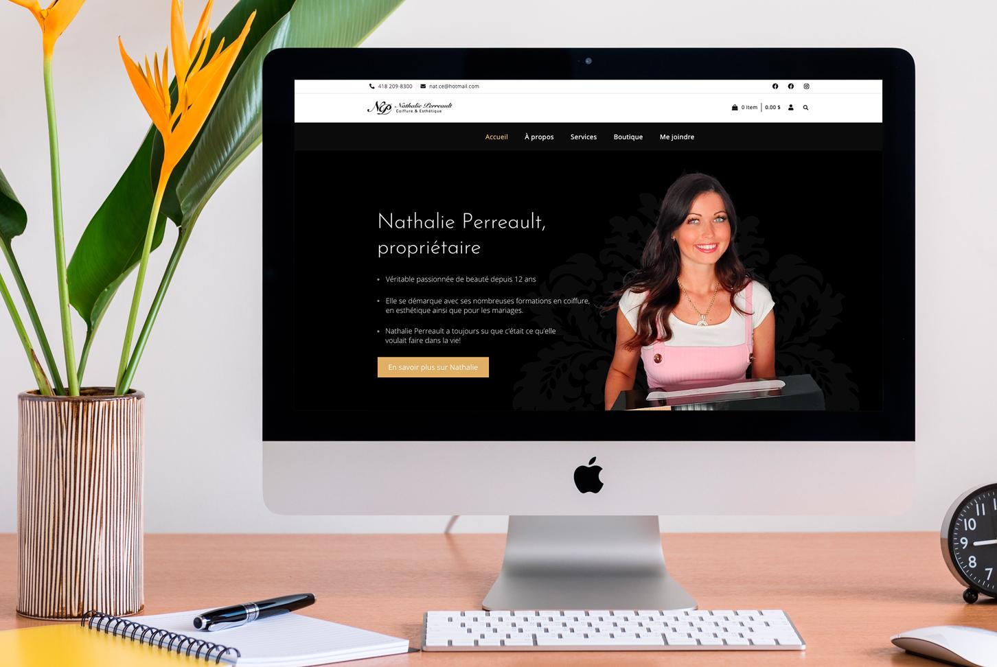 Coiffure et esthétique Nathalie Perreault - Site Web